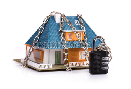 home security concept chain with