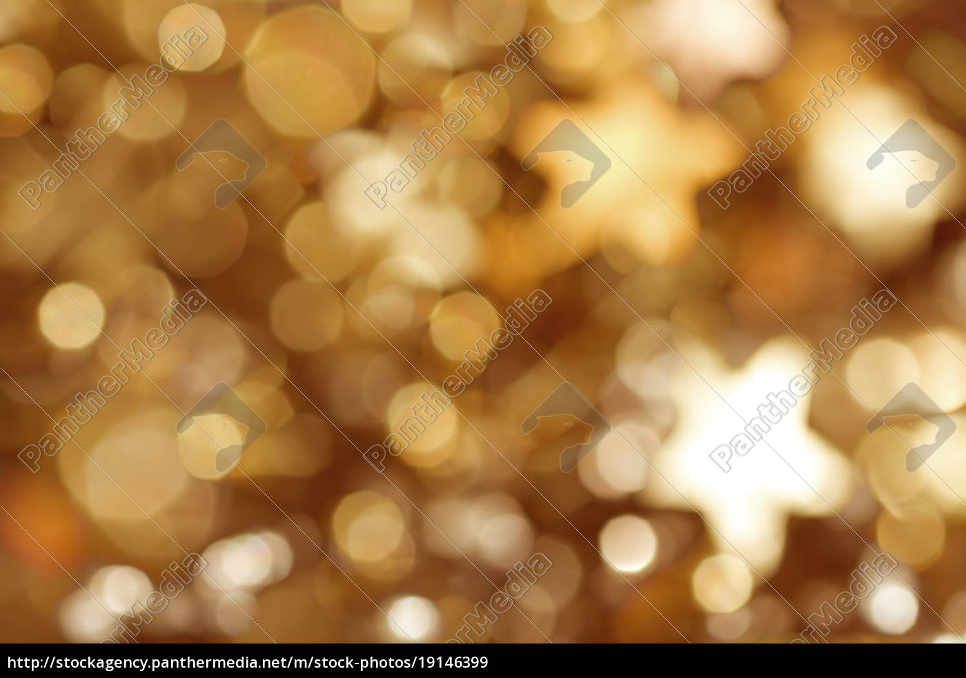 golden, background, with, stars, and, bokeh - 19146399