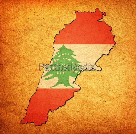 lebanon territory with flag