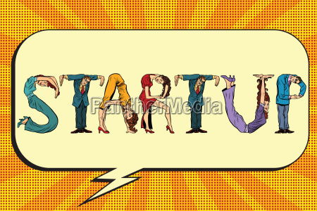 startup letters business people