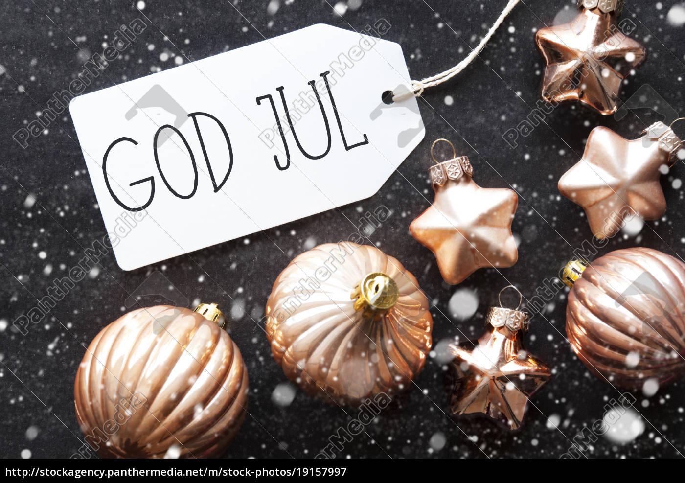 bronze, balls, , snowflakes, , god, jul, means - 19157997