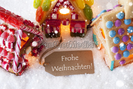 colorful, gingerbread, house, , snowflakes, , frohe, weihnachten - 19157971