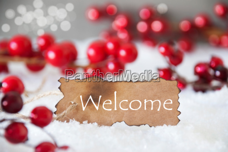 burnt, label, , snow, , bokeh, , text, welcome - 19158043