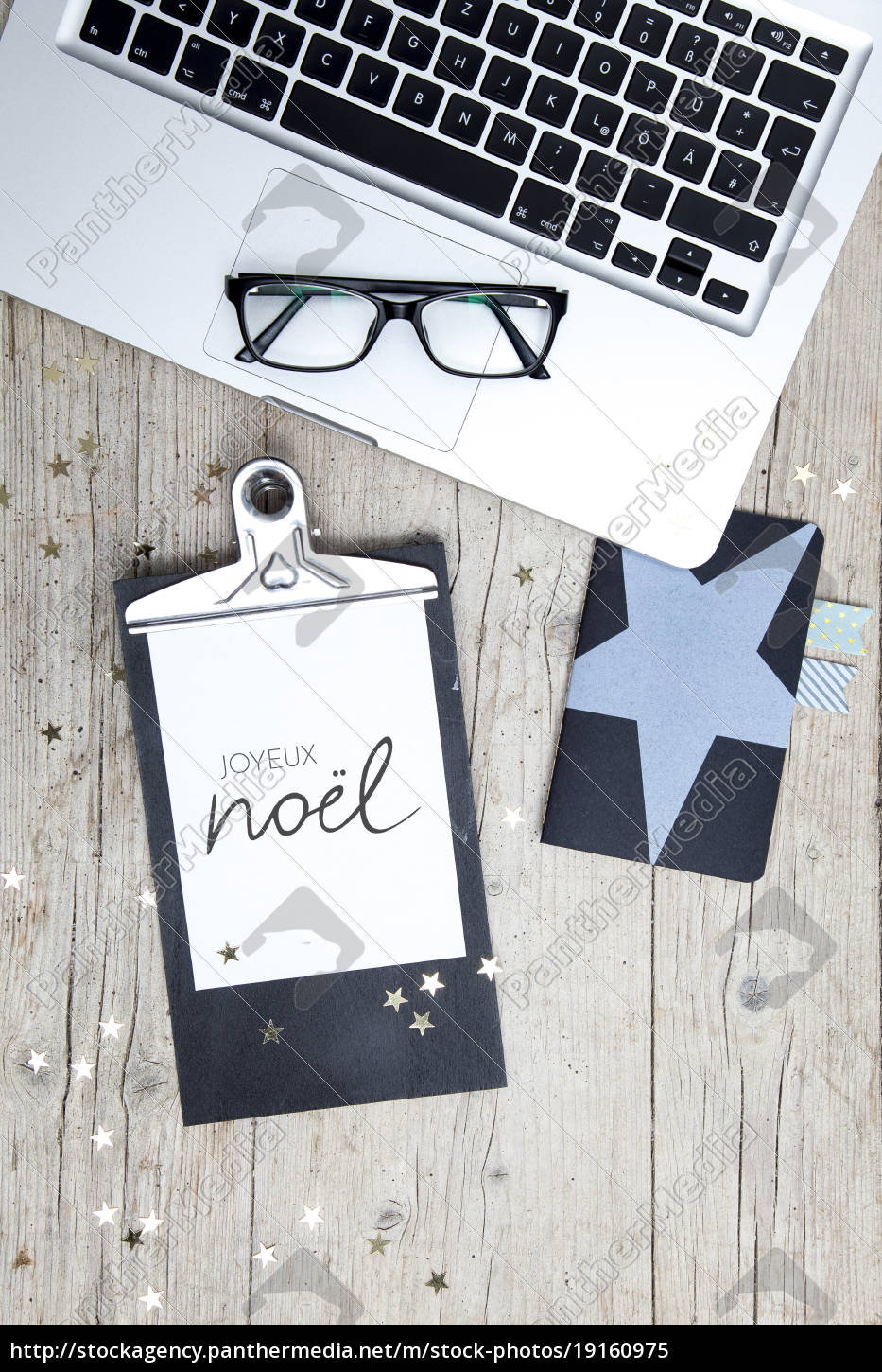business, office, workplace, with, christmas, decoration - 19160975