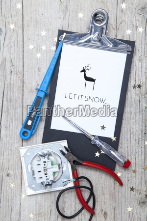 creative christmas card for at electrican