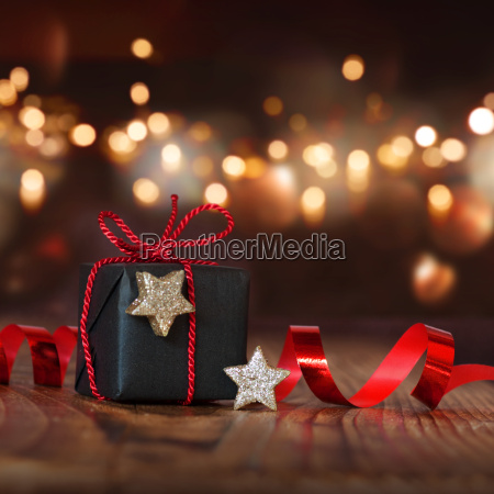 christmas still life with a gift