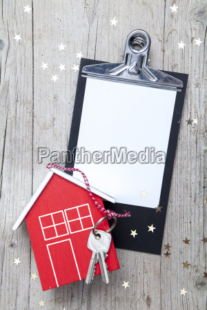 creative christmas background with a key