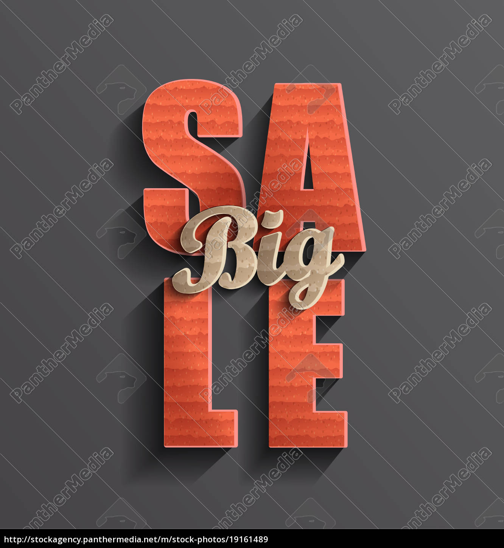 big, sale, banner. - 19161489