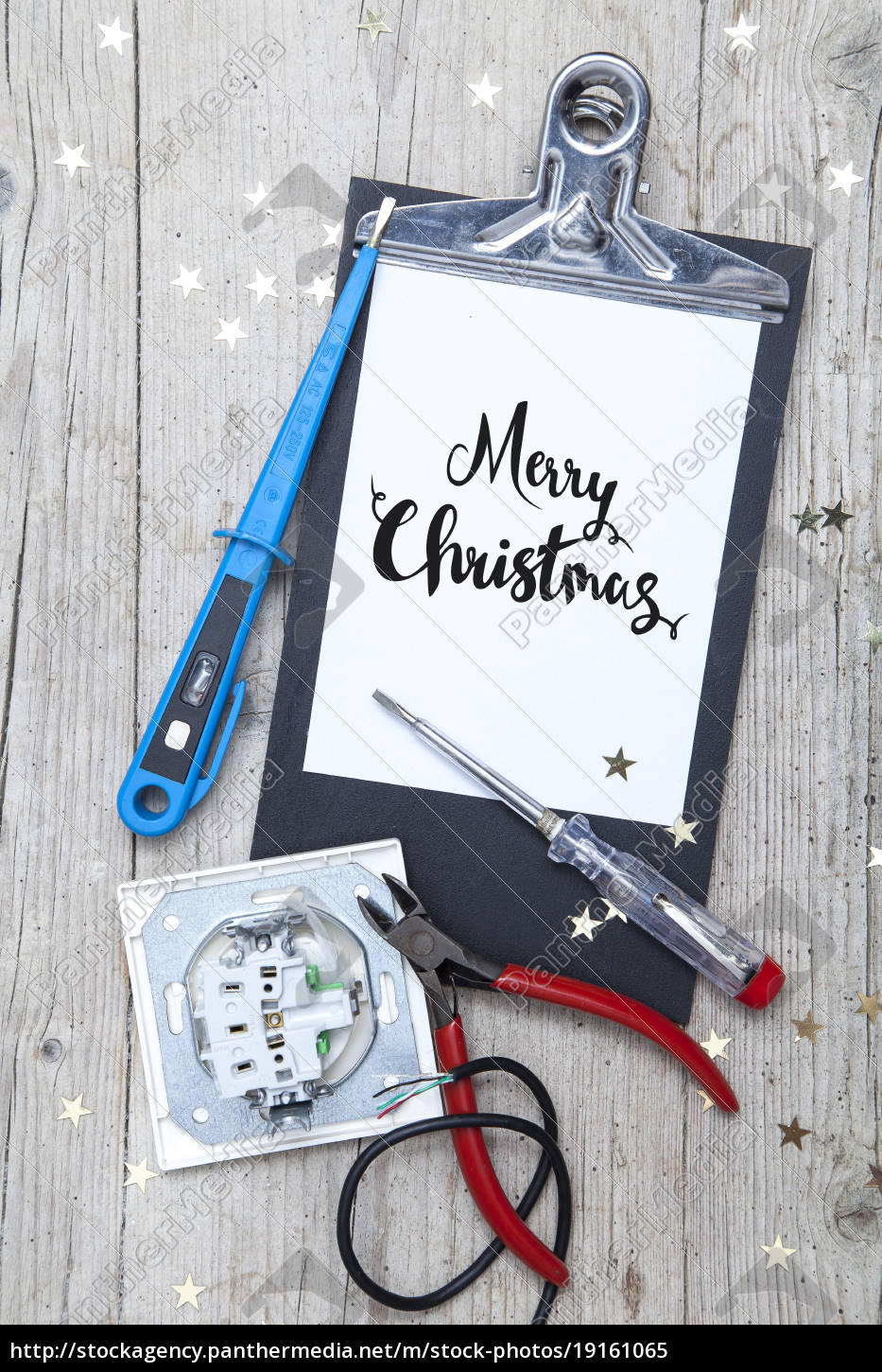 creative, christmas, card, for, at, electrican - 19161065