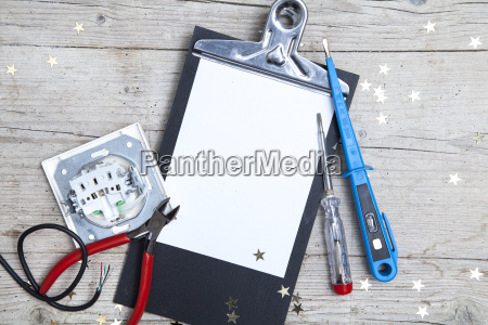 creative, christmas, card, for, at, electrican - 19161075