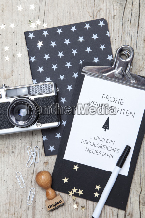 creative, christmas, card, with, an, old - 19161729
