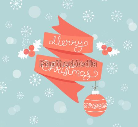 greeting, card, for, christmas, with, ball. - 19161499