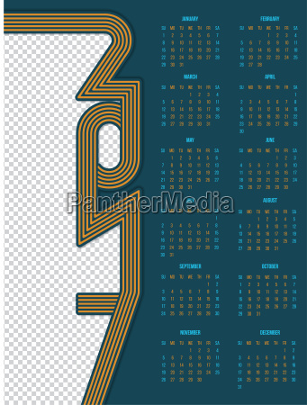 2017 calendar design with photo container