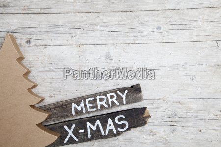 christmas, grey, wood, background, with, decoration - 19163849