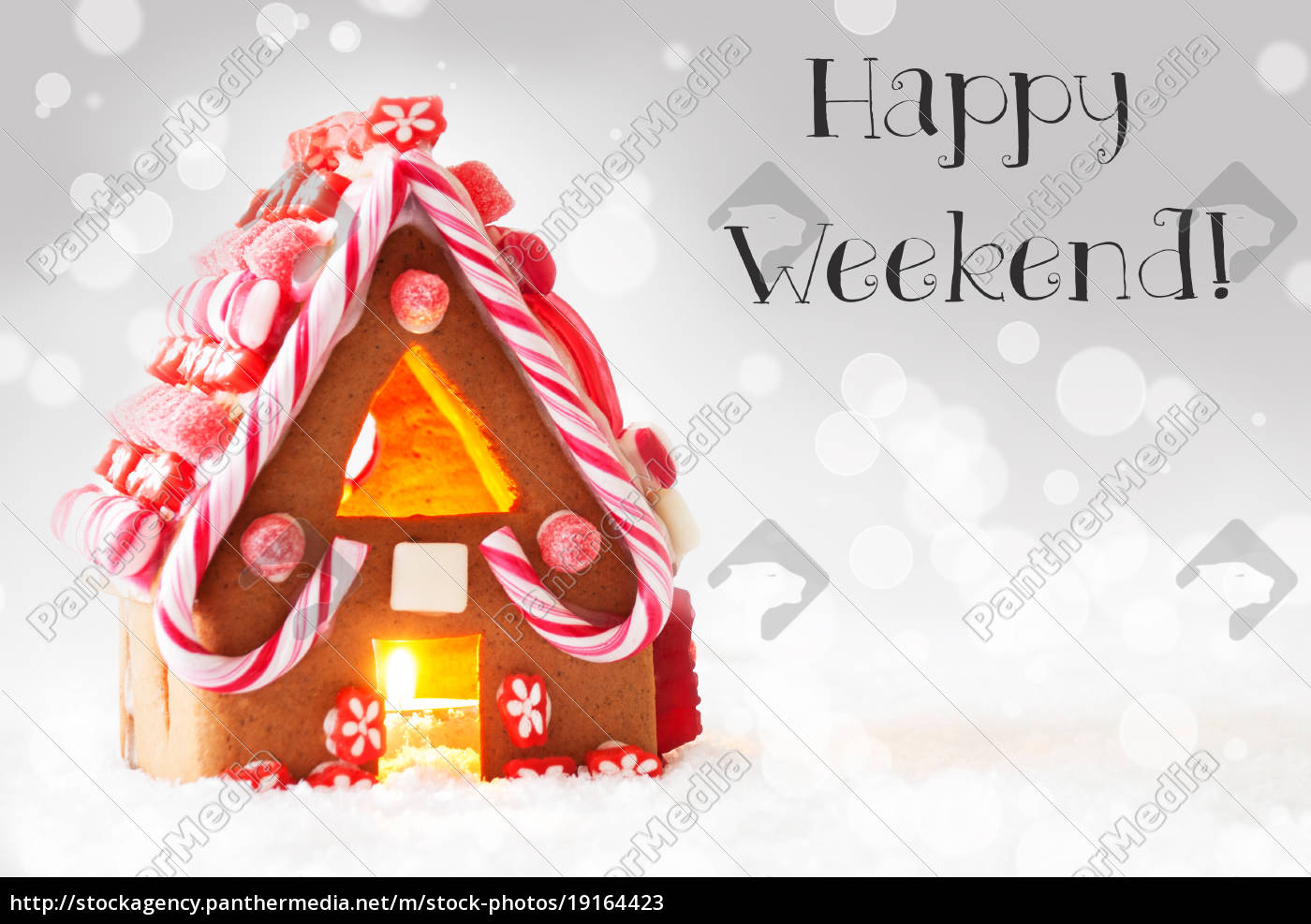 gingerbread, house, , silver, background, , text, happy - 19164423