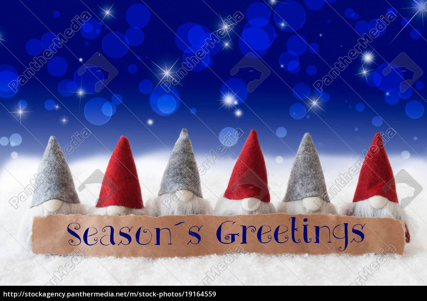gnomes, , blue, background, , bokeh, , stars, , text - 19164559