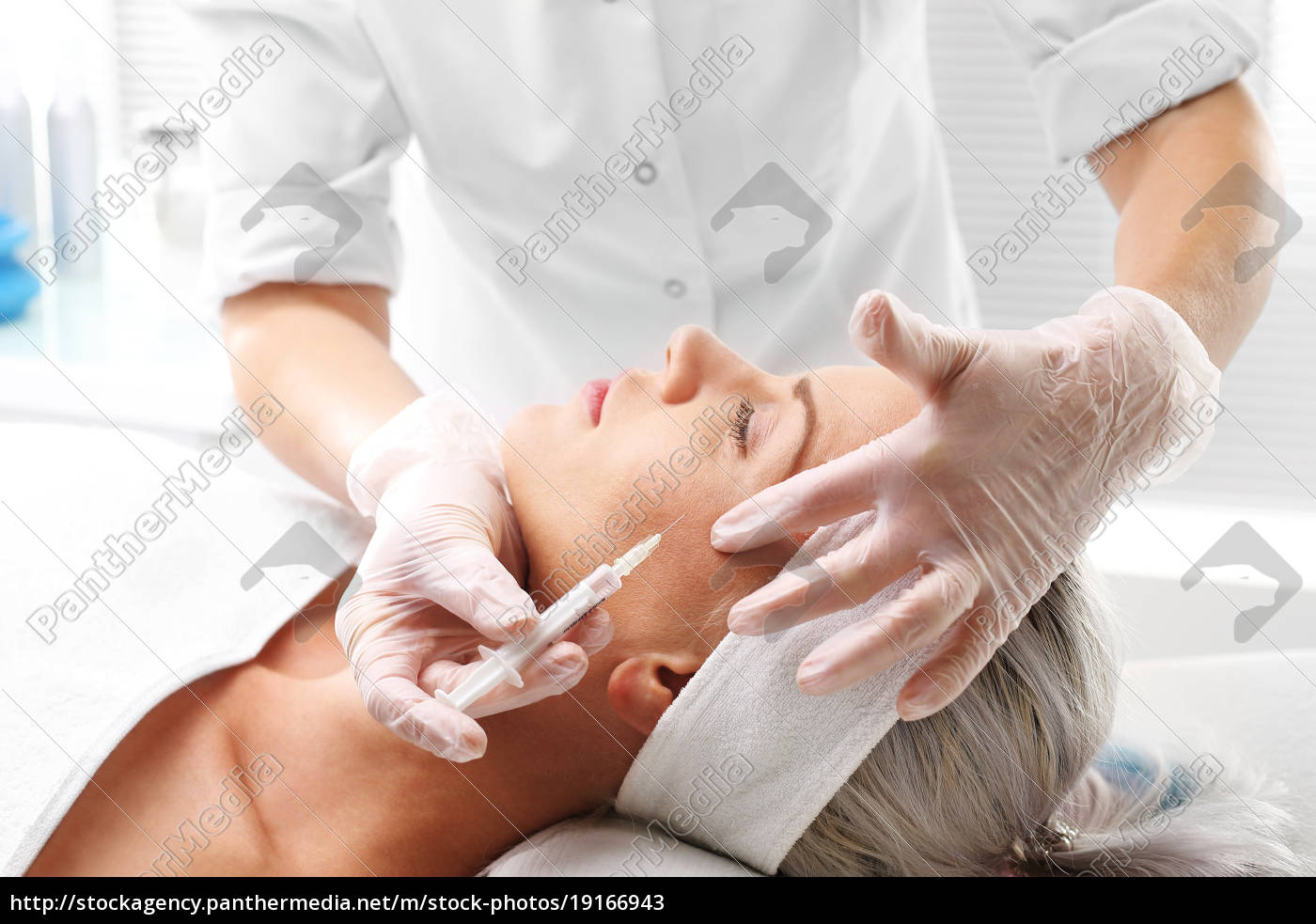 injection, from, botox., filling, wrinkles, face, lifting. - 19166943