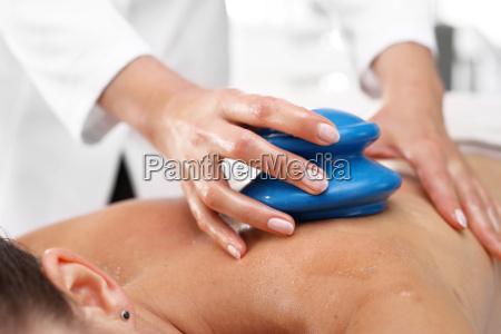 masseur, massaging, her, back, rubber, chinese - 19166773