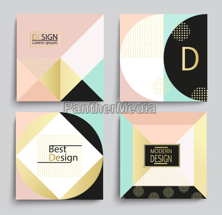 set of elegant geometric banner template