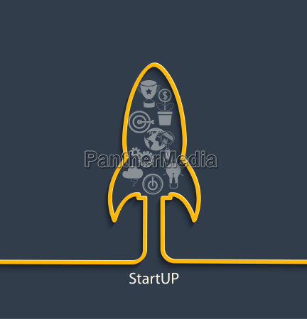 vector startup concept