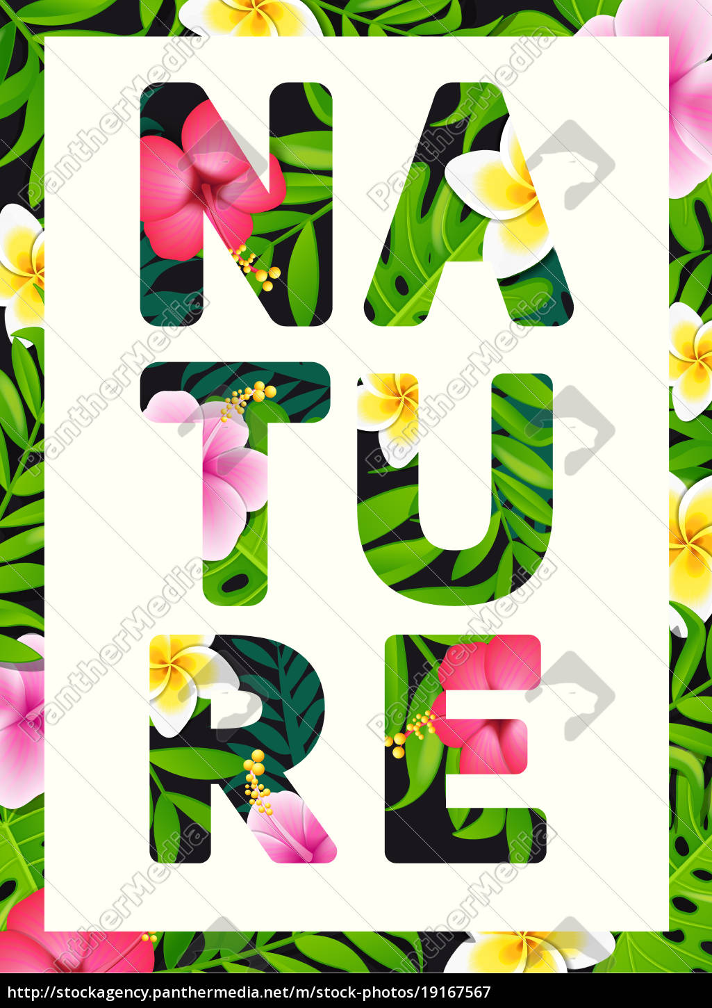 tropical, print, slogan. - 19167567