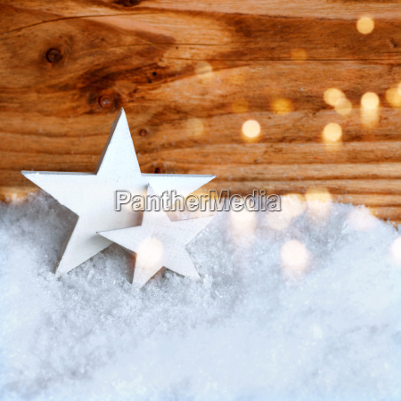 white, christmas, stars, in, the, snow - 19168049