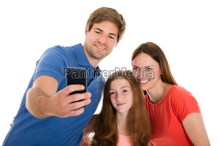 parent, taking, selfie, with, their, daughter - 19169987