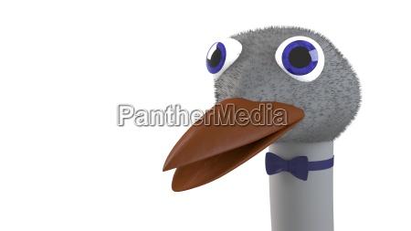 funny ostrich head