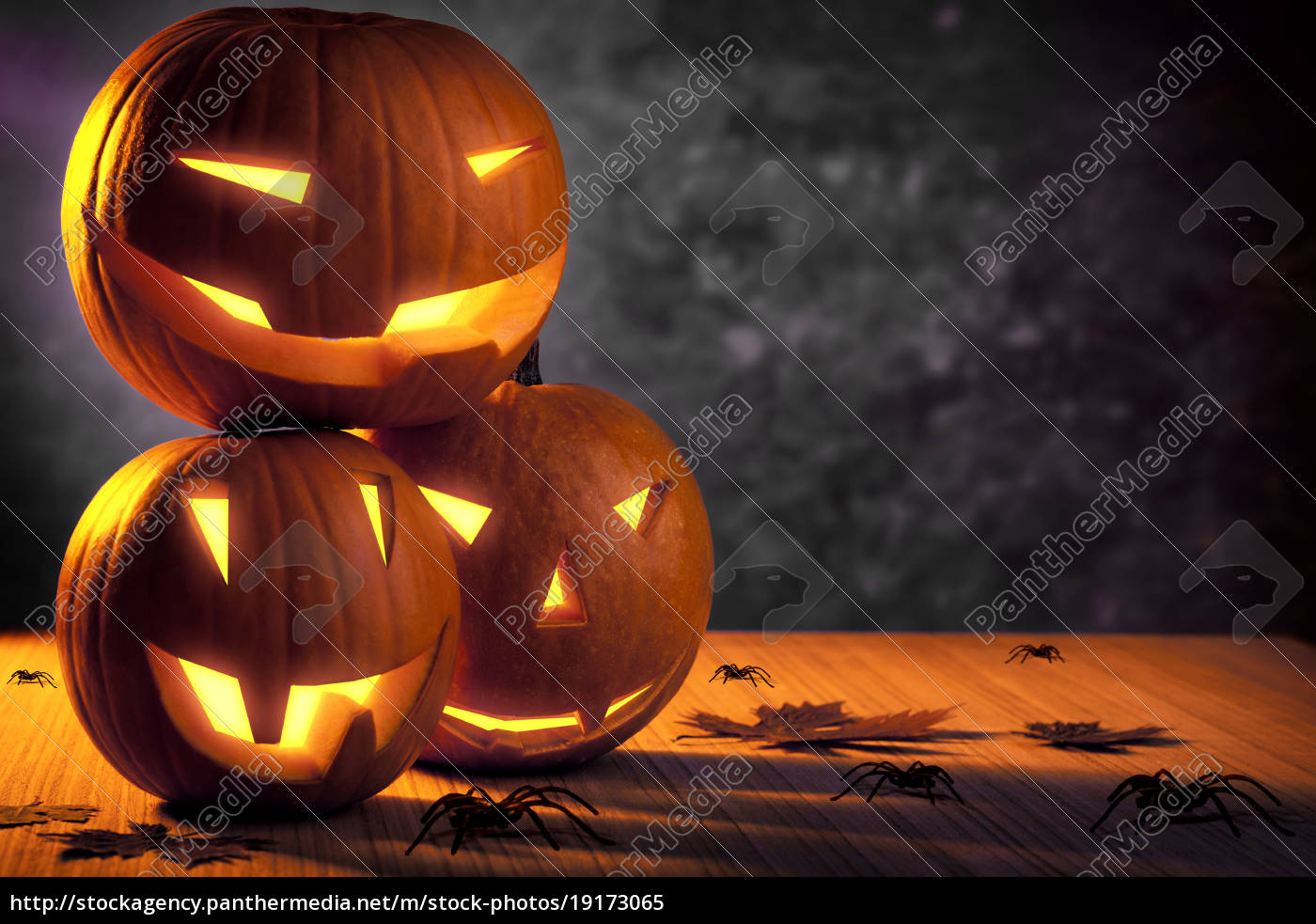Grunge Halloween Pumpkins Stock Photo 19173065 Panthermedia