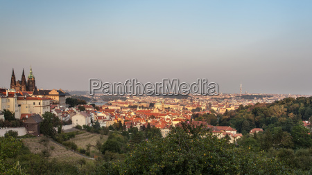 view of prague city from the