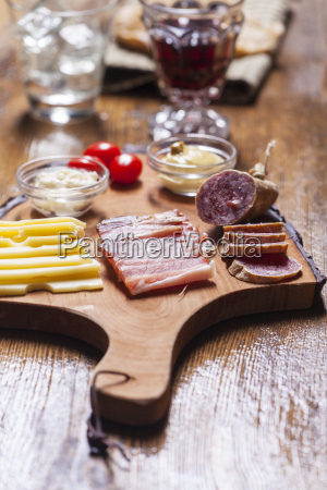 south tyrolean specialities on wood