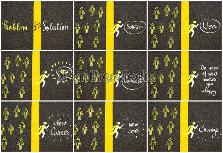 concept images over road marking yellow