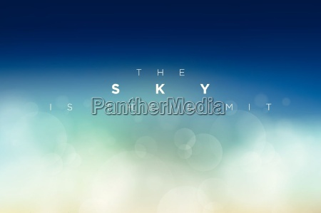 the sky is the limit typographic