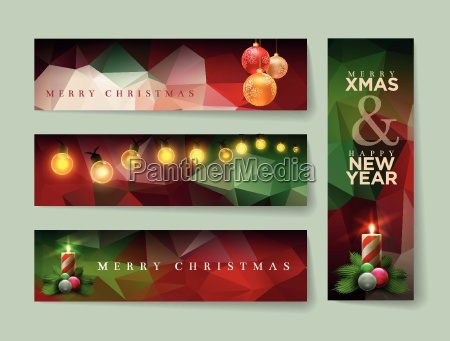 vector christmas banner design with abstract