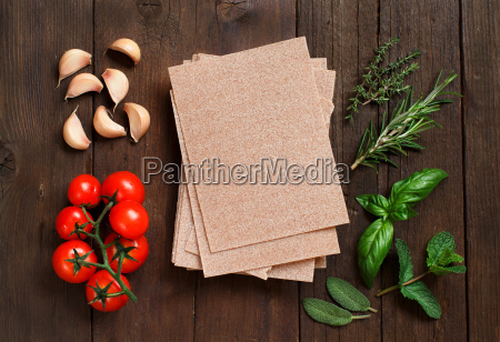 whole wheat lasagna sheets vegetables and