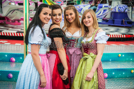 attractive and joyful woamn at german
