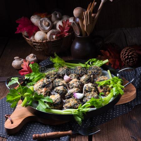 baked, stuffed, mushrooms - 19176421
