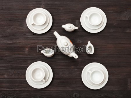top, view, of, tea, set, on - 19180125