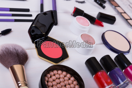 collection, of, makeup, cosmetics, products, on - 19181151