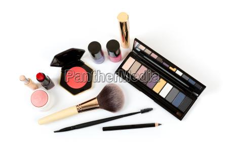 make, up, cosmetics, isolated, on, white - 19181155