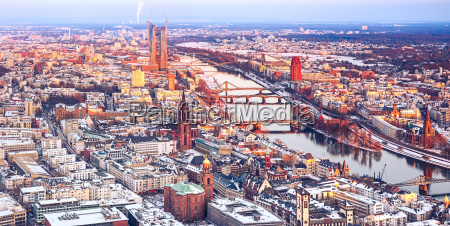 frankfurt at winter