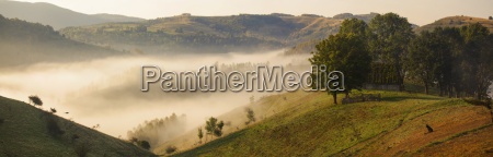 apuseni mountains romania misty autumn