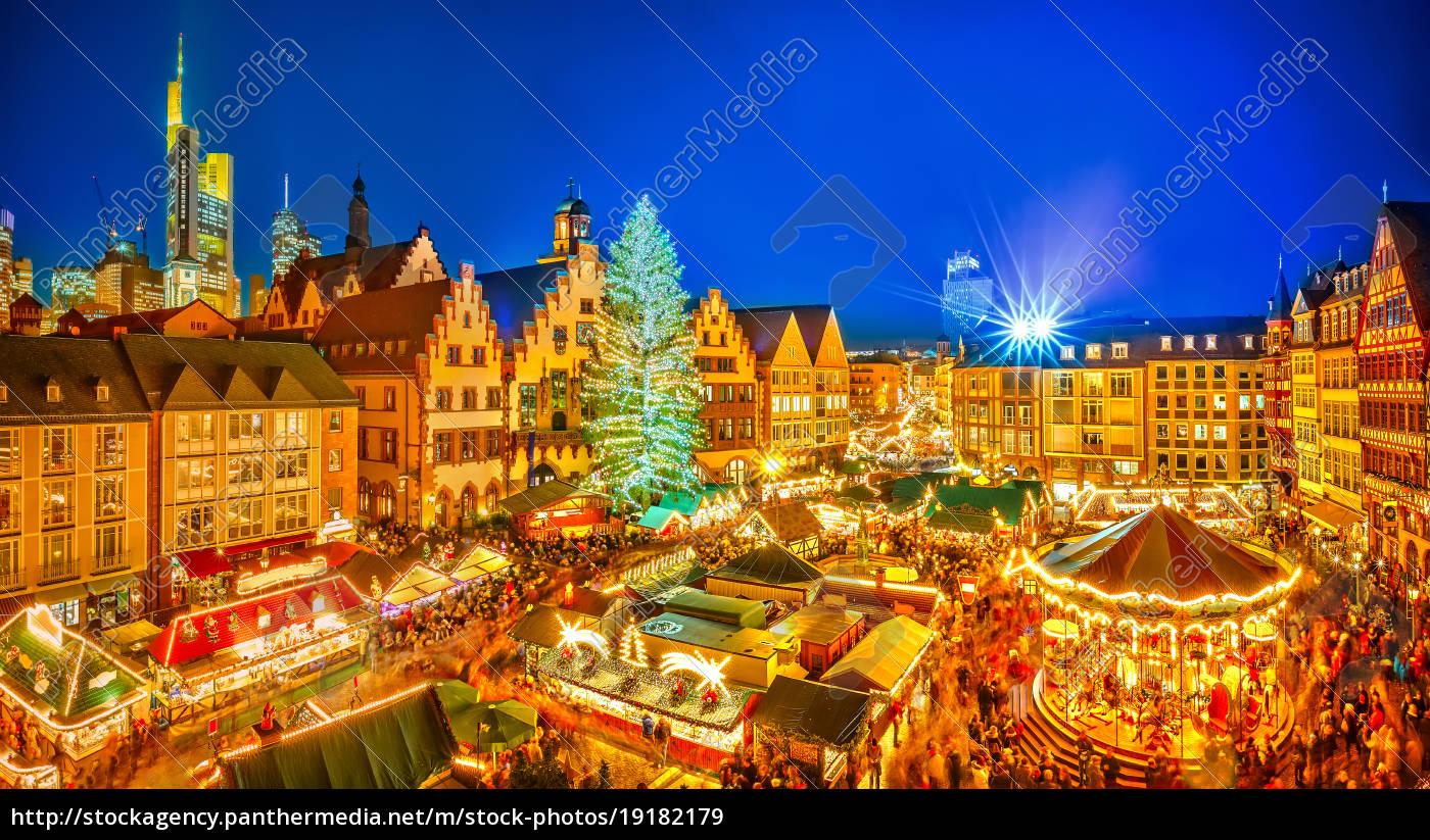 Weihnachtsmarkt Frankfurt Main.Stock Photo 19182179 Christmas Market In Frankfurt