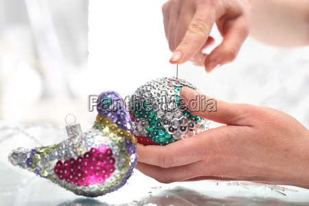 beautiful christmas decorations sequin baubles