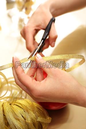 christmas preparations the woman is preparing