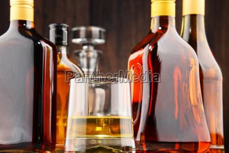 bottles, of, assorted, alcoholic, beverages - 19185875
