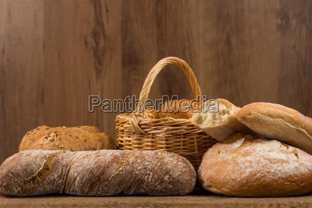 assortment of bread baking products