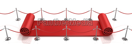 red carpet unrolling concept