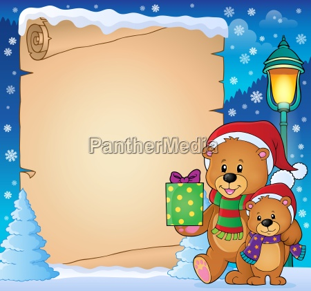 parchment with christmas bears theme 3