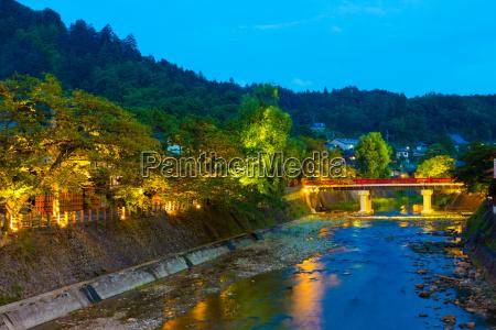 distant dusk naka bashi bridge down